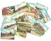 Fort Bragg NC Set of 20 Trading Cards Linen Texture