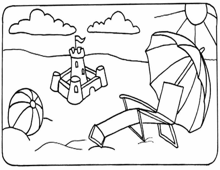 Coloring Pages Of The Beach Natashamillerweb