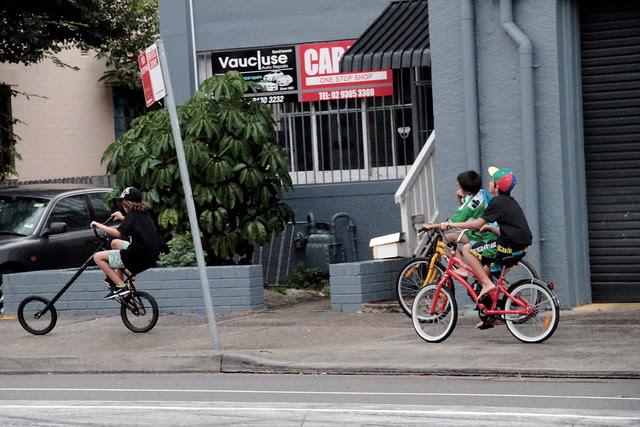 bondi kids on their cool bikes
