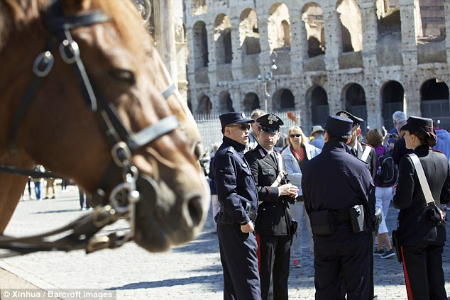 Alfano said: 'This service was planned with Chinese tourists in mind, and if it works well we may consider other forms of collaboration, given the presence of the Chinese community in our country'
