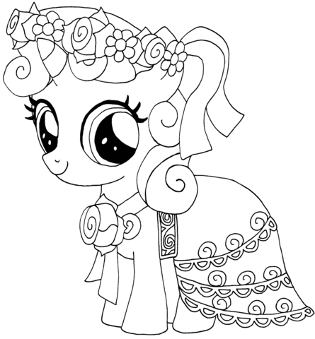 My Little Pony Sweetie Belle Coloring Page Free Printable Coloring