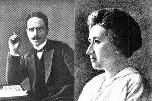 Карл Либкнехт и Роза Люксембург