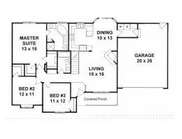 Beautiful 1500  Square  Foot  Ranch House  Plans  New Home