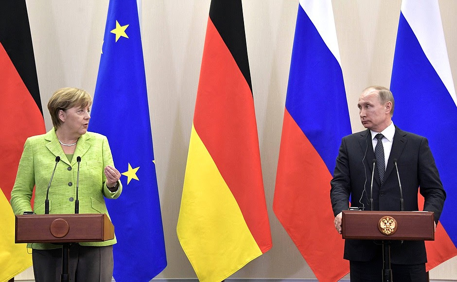 Press statements and answers to media questions following meeting with Federal Chancellor of Germany Angela Merkel.