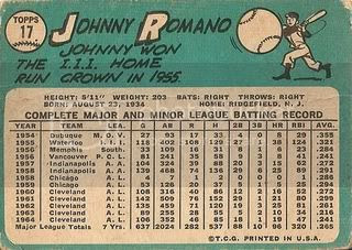 #17 Johnny Romano (back)