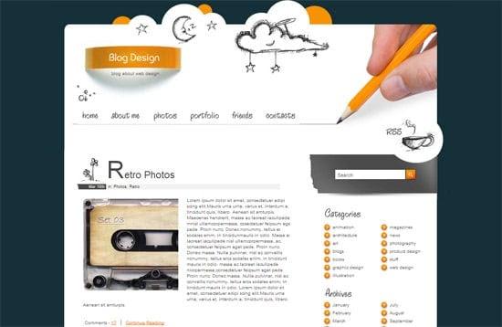 Blog Design free CSS template