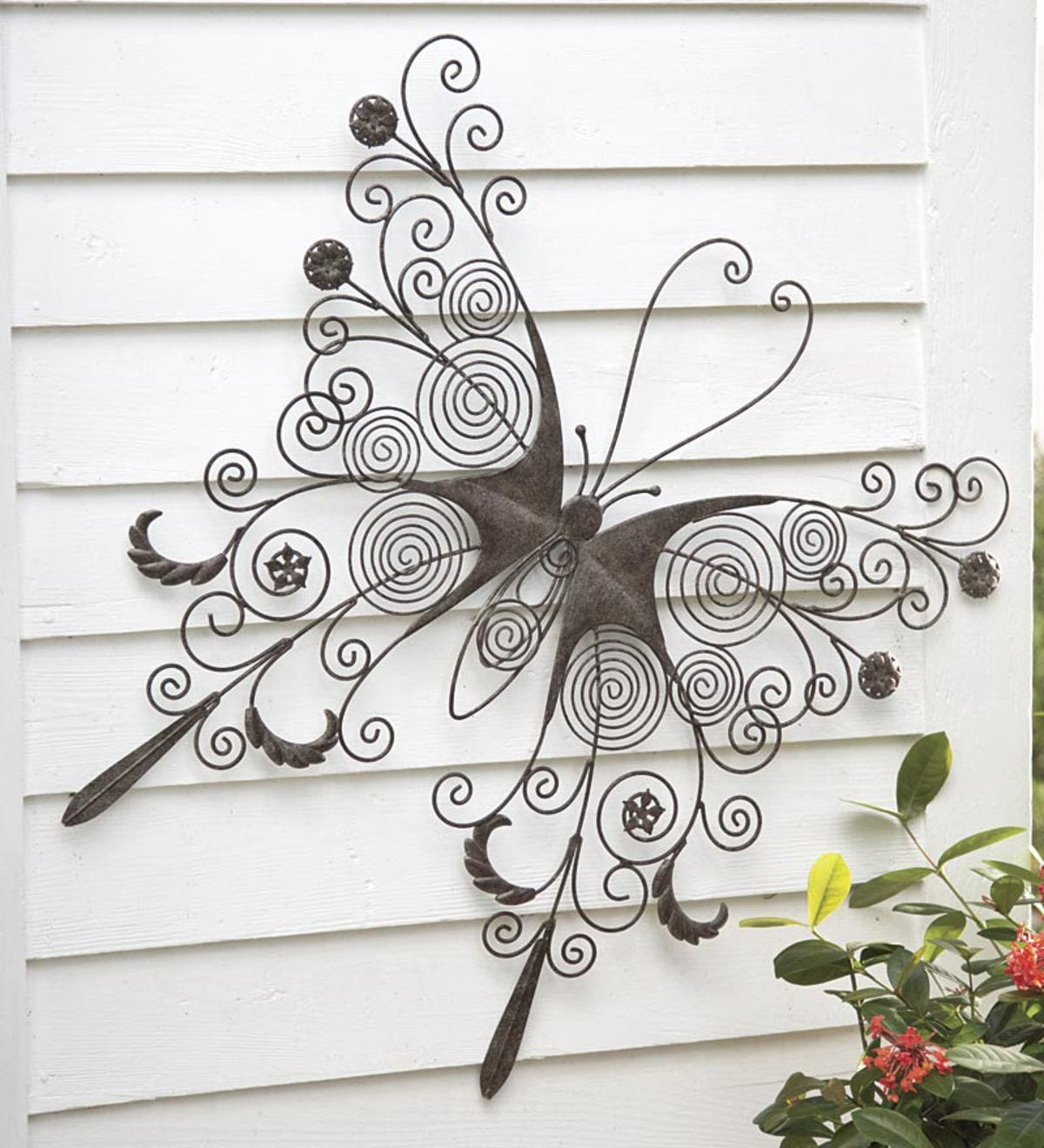 Large Metal Butterfly Wall Art | Wind and Weather