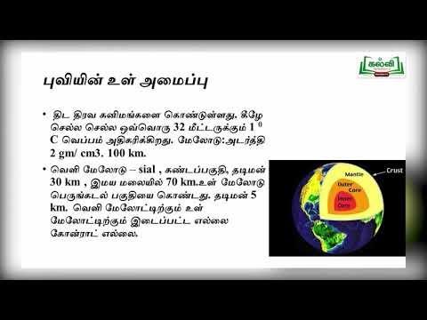 11th Geography பாறைக்கோளம் புவியின் உள் இயக்க செயல்முறைகள் அலகு 3 பகுதி 3 Kalvi TV