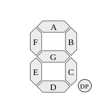 Seven Segment Display Labelled