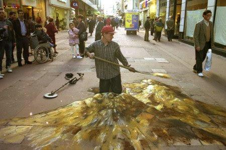 Julian Beever Treasure Hunt Optical Illusion 4