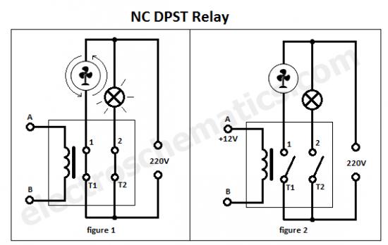NC dpst relay