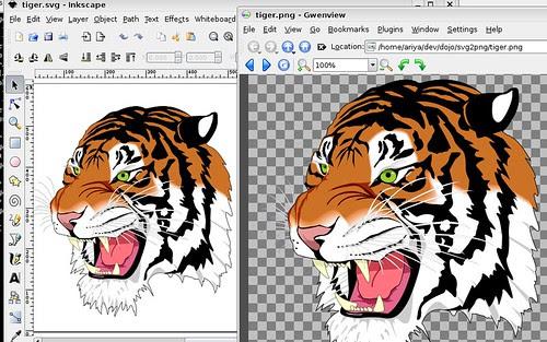Result of WebKit-based SVG rasterizer