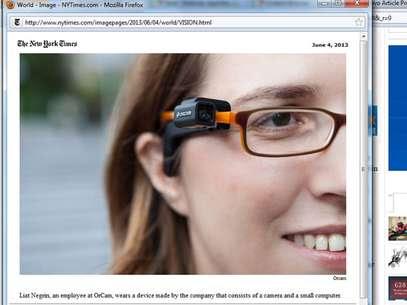 Uso do aparelho é semelhante ao Google Glass Foto: Reprodução