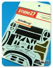 Patron de fibra de carbono en calca 1/24 Studio27 - BMW Z4 GT3 para kit de Fujimi