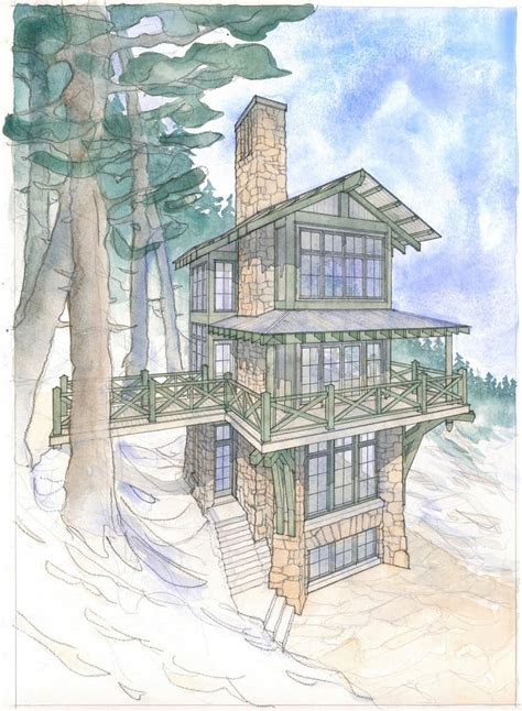 build    home plan   tower cabin