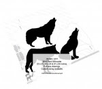 Wolf Pack Silhouettes Yard Art Woodworking Pattern - fee plans from WoodworkersWorkshop® Online Store - wolf,wolves,coyotes,animals,wildlife,yard art,painting wood crafts,scrollsawing patterns,drawings,plywood,plywoodworking plans,woodworkers projects,workshop blueprints