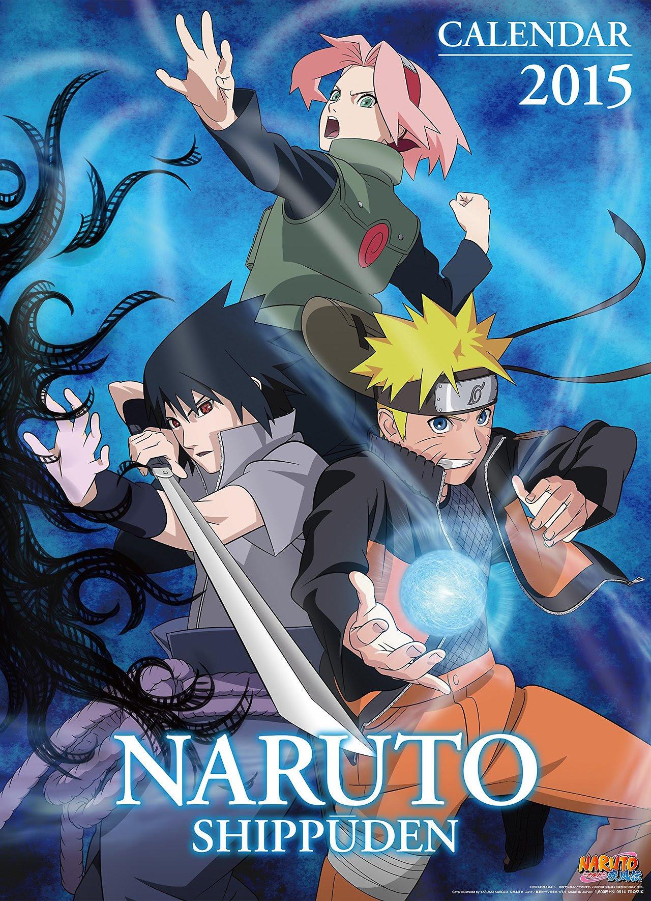 Official Naruto Shippuden Anime Calendar 2015 : Naruto