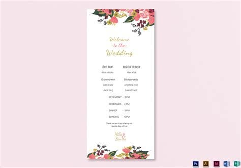 25  Wedding Program Templates   PSD, AI, EPS, Publisher