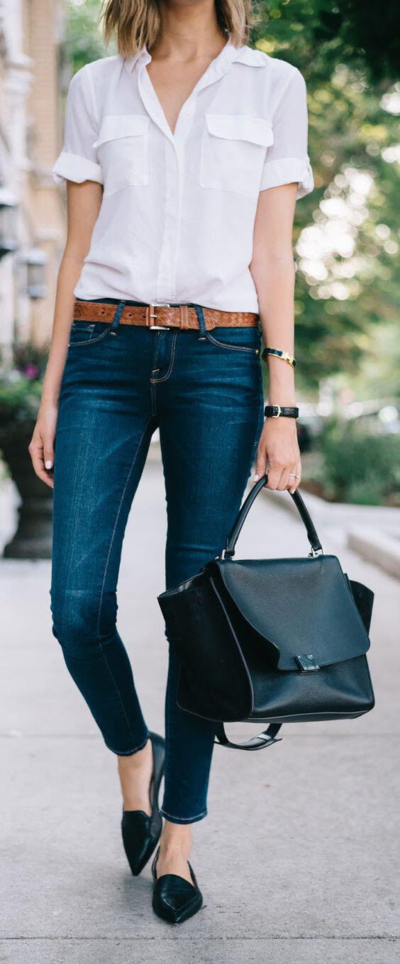 9 stylish business casual outfits with flats to wear this