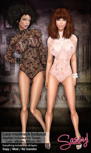 Lace Mockneck Bodysuit