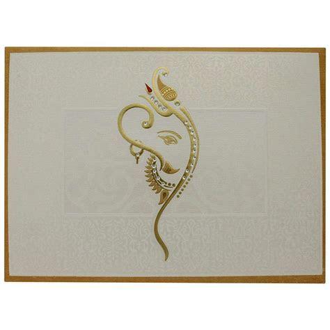 Designer Hindu Wedding Card With Decorated Ganesha