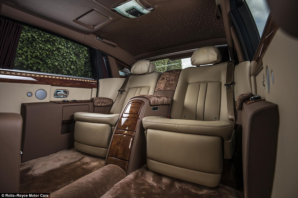 The plush browns and beiges are complimented by a star-light roof lining - ideal for any millionaire to sit back and pretend their on a midnight safari