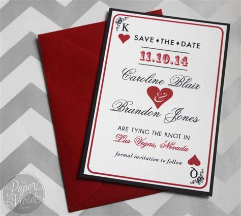 Las Vegas Save the Date, Casino theme Save the Date with