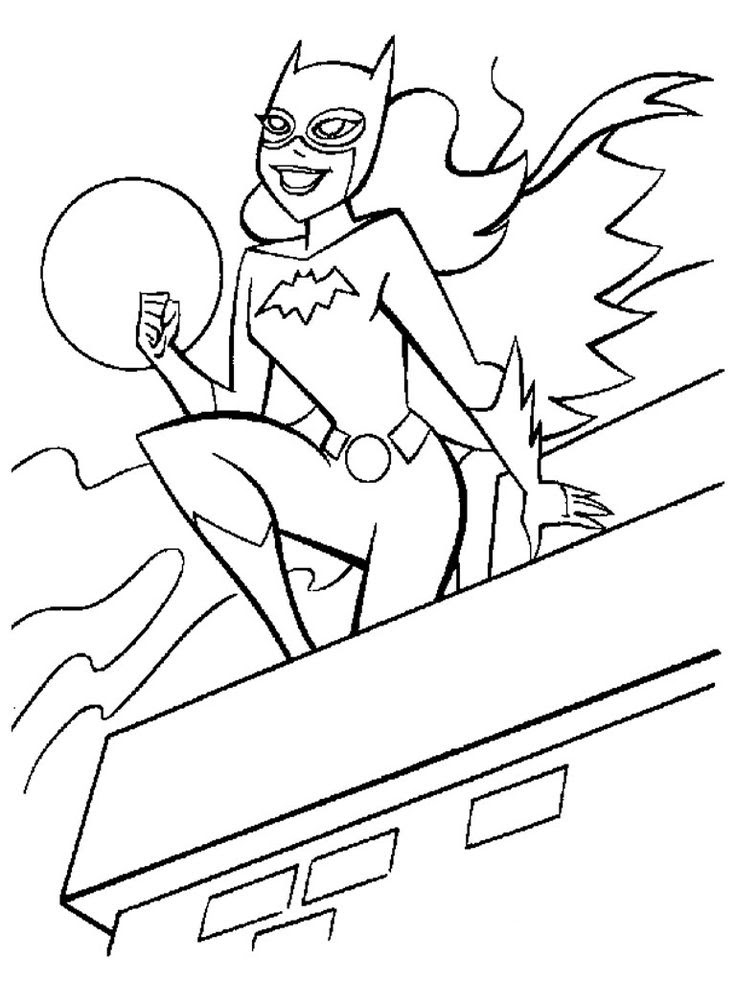 Superhero Printable Coloring Pages For Kids - Coloring And Drawing