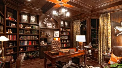 luxury home library room decorating ideas youtube