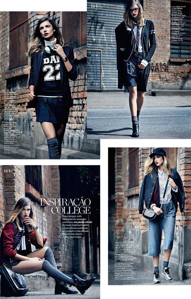 Editorial photography Inspiration College: Camila Mingori By Pedrita Junckes For Marie Claire Brazil June 2014