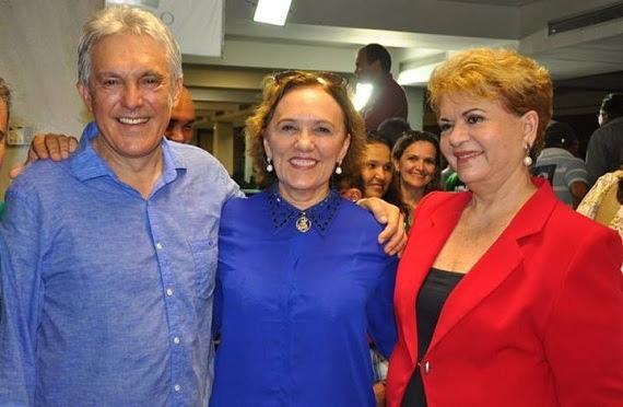 Dra. Zenaide ao lado do irmão João Maia e da senadorável Wilma de Faria