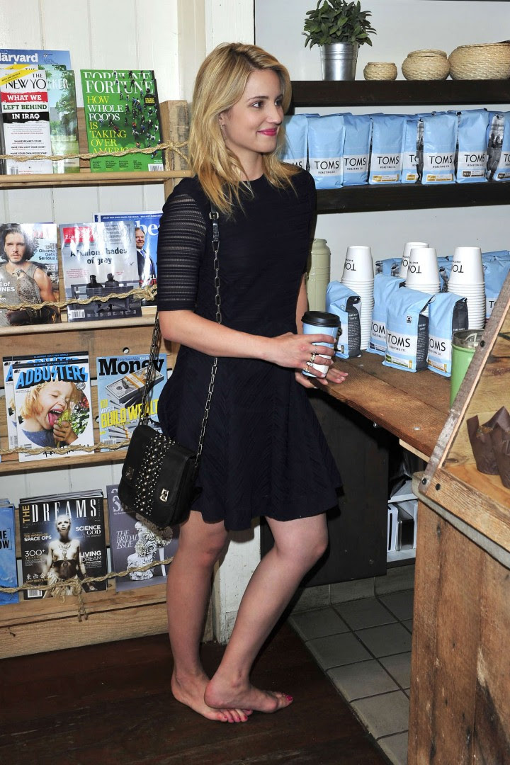 Dianna Agron – TOMS to Go One Day Without Shoes 2014 -05