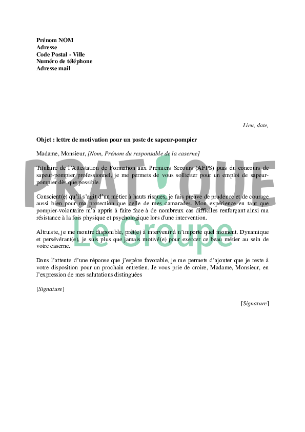 lettre de motivation mutation interne
