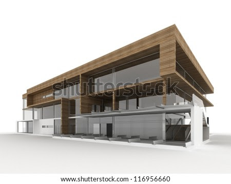Design Of Modern Office Building. Architects And Designers ...