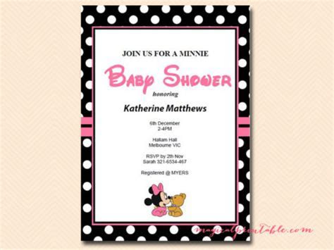 Minnie Mouse Baby Shower Games   Magical Printable