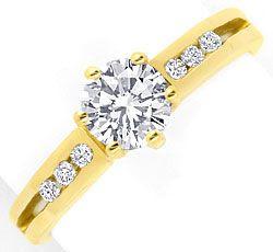 Foto 1, Neu! Traumhafter Brillant-Solitär-Ring, 18K/750! Luxus!, S8342