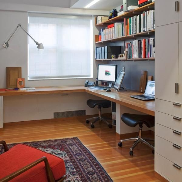 Home Ideas 20 Space Saving Office Designs With Functional Work Zones For Two