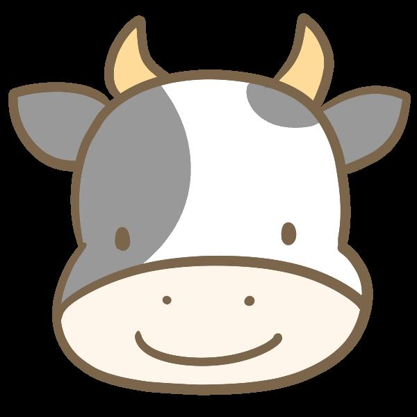 牛の顔白黒のイラスト かわいいフリー素材が無料のイラストレイン