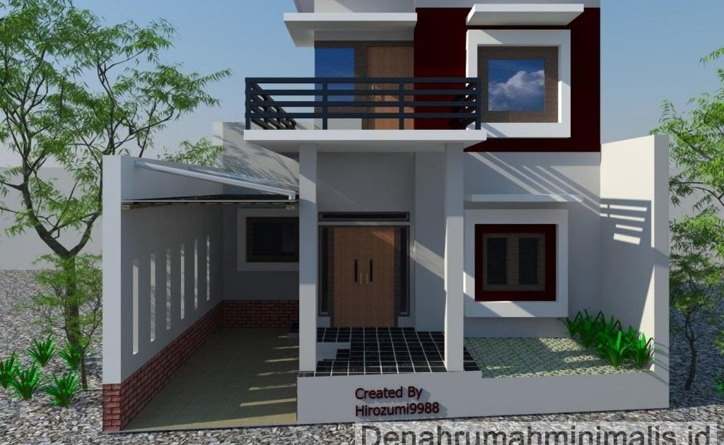 Denah Rumah Biaya Bangun Rumah Minimalis 2 Lantai Type 21 ...