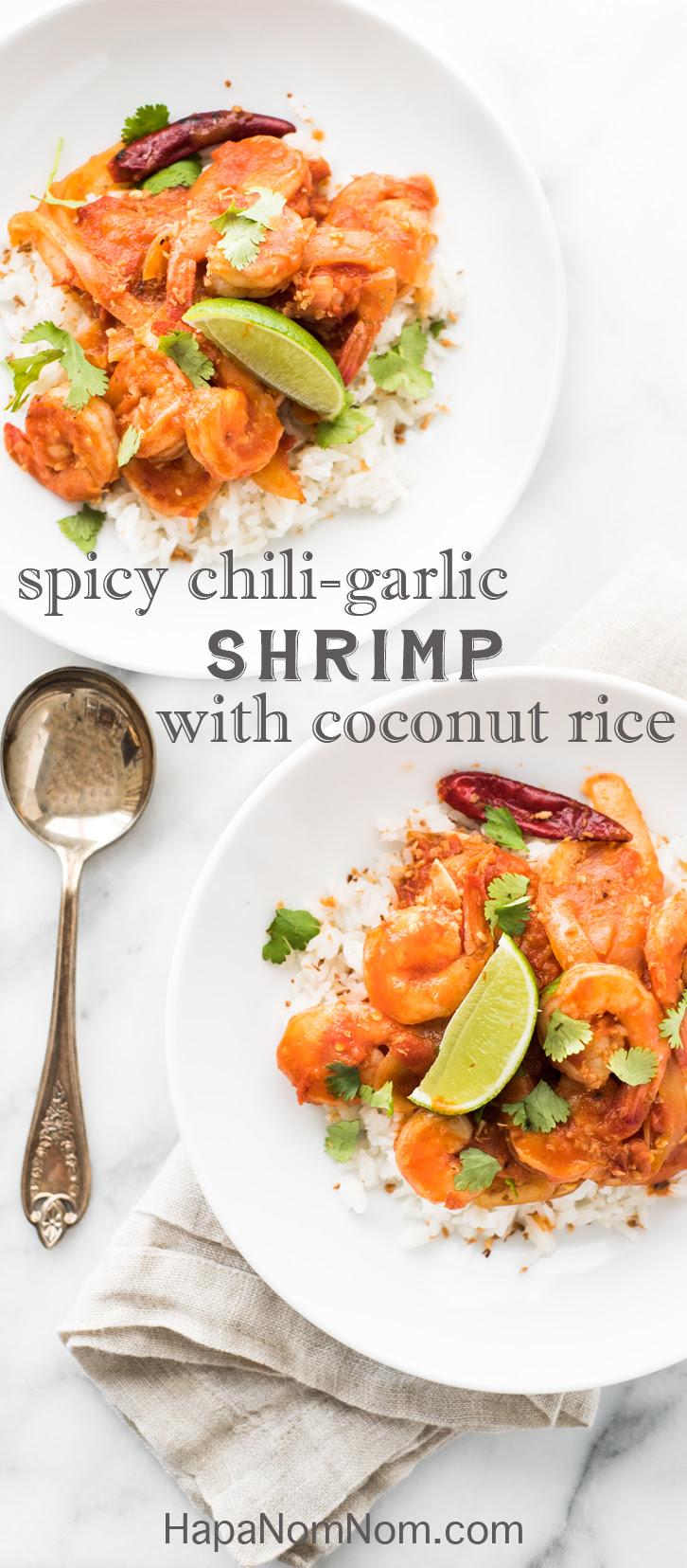 Spicy Chili Garlic Shrimp with Coconut Rice