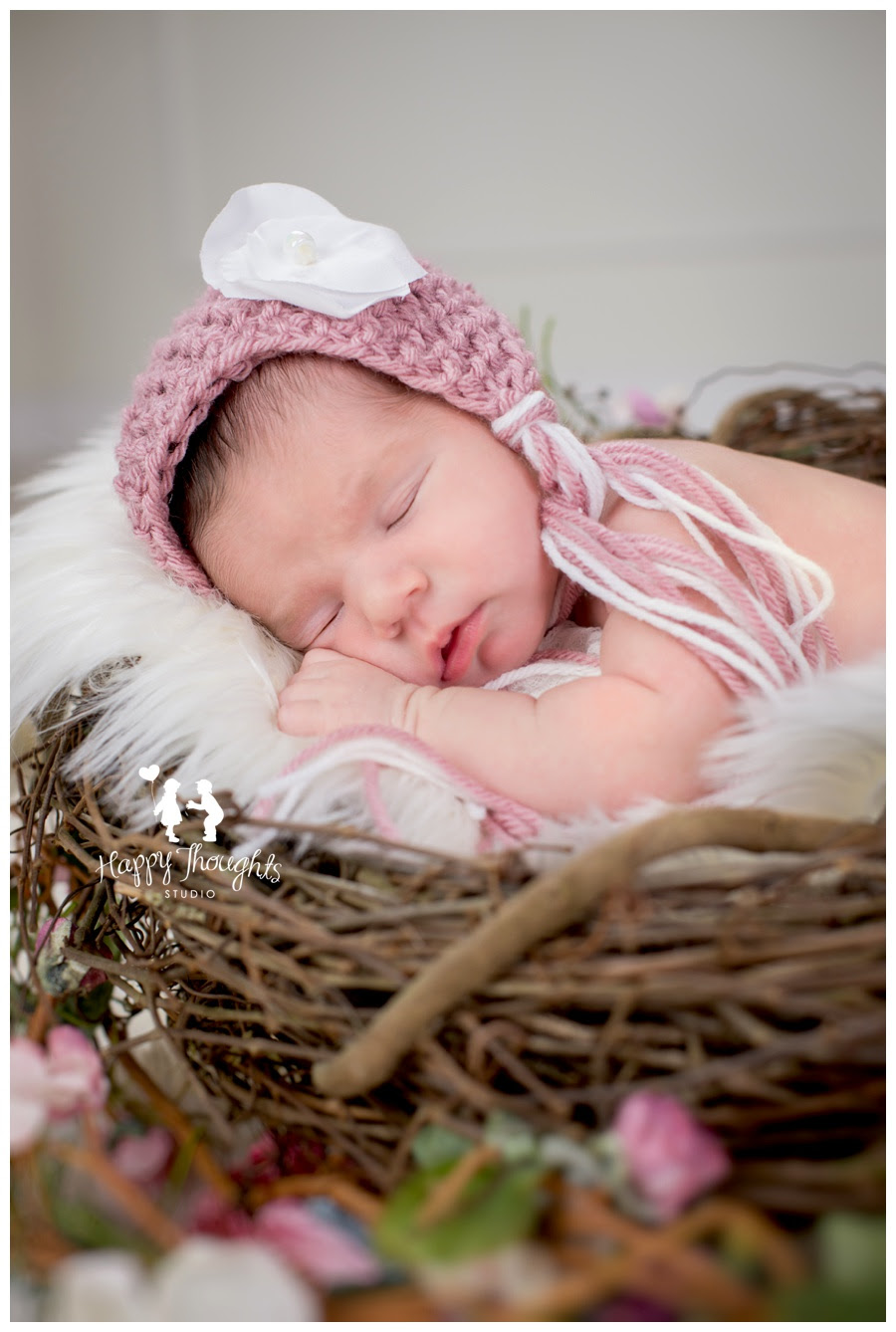 Vintage Newborn Baby Girl Session Happy Thoughts Studiohappy