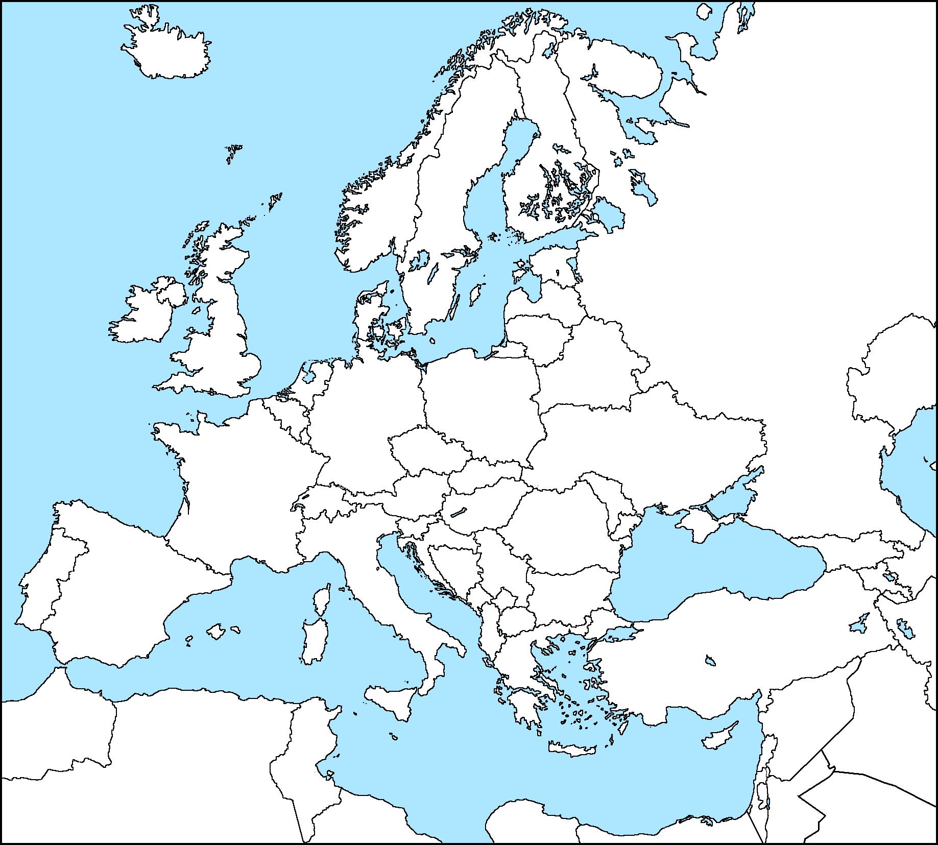 Europe map blank – cbeo
