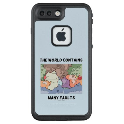 The World Contains Many Faults Earthquake Humor LifeProof® FRĒ® iPhone 7 Plus Case