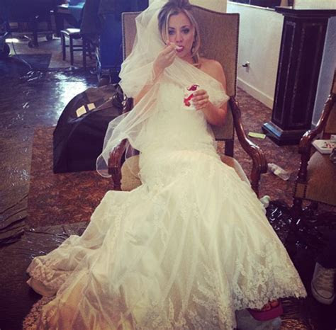 Kaley Cuoco sports wedding dress in new photo