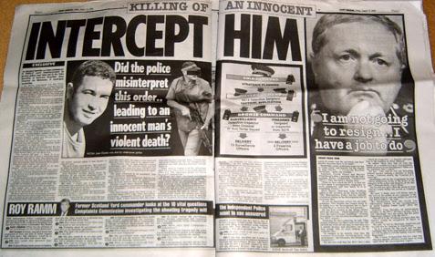 Intercept him - Killing of an Innocent