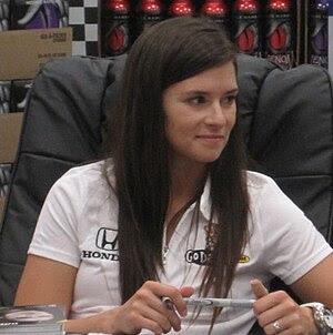 English: Andretti Autosport's Danica Patrick a...