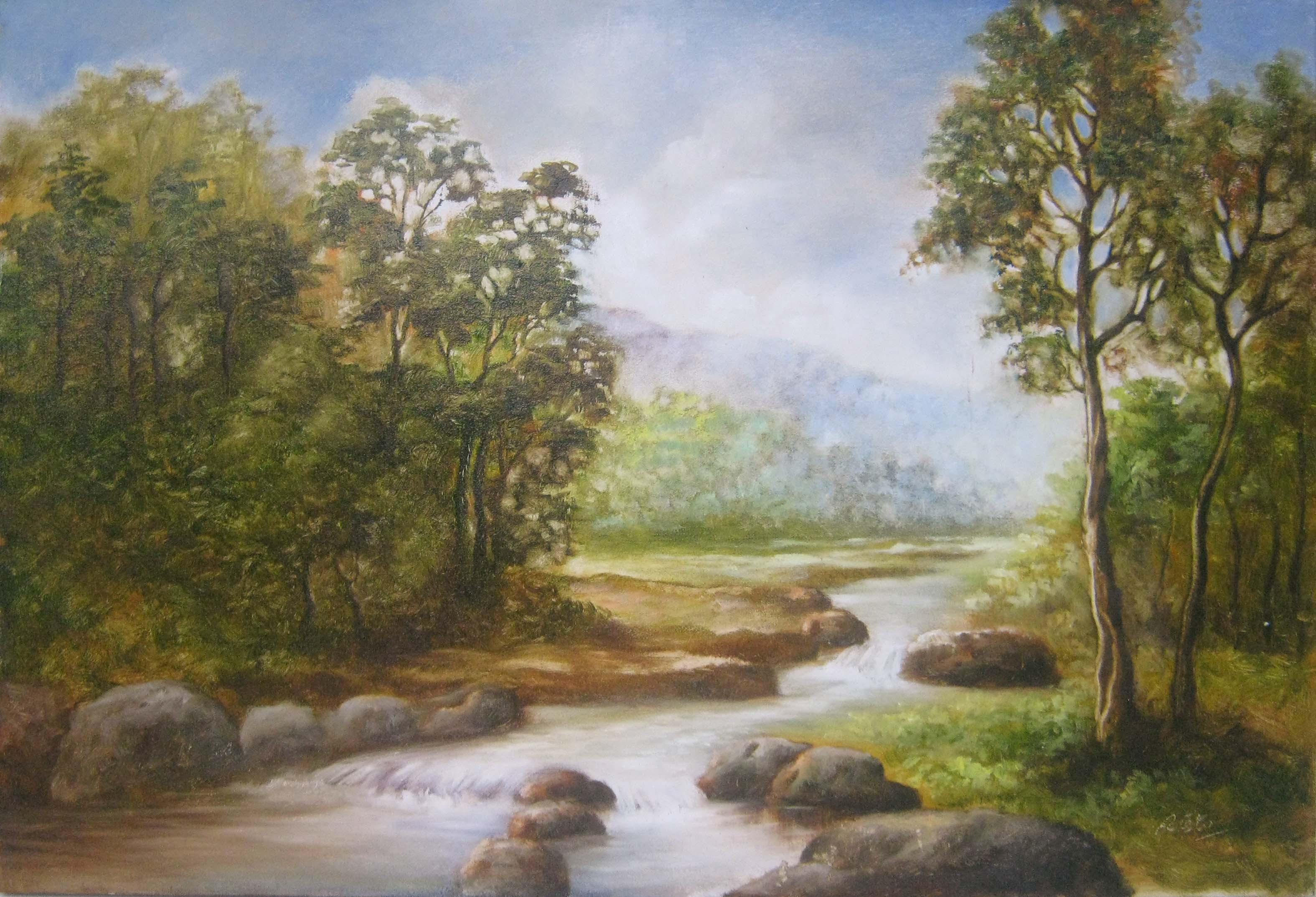 Lukisan Alam Pedesaan 2020 Koleksi Gambar HD