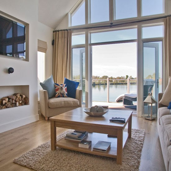 Spacious coastal-style living room | Coastal living room ideas ...