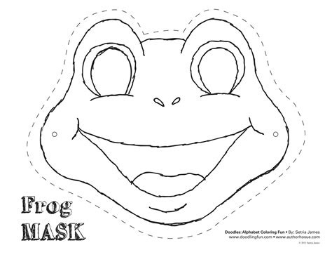 frog cut  template frog mask colouring pages diy