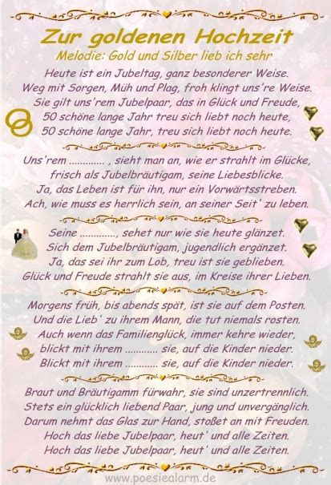 Lustige Reden Zur Goldenen Hochzeit Kostenlos | DE Hochzeit